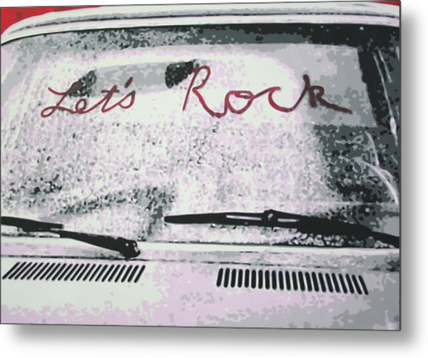 Lets Rock Metal Print