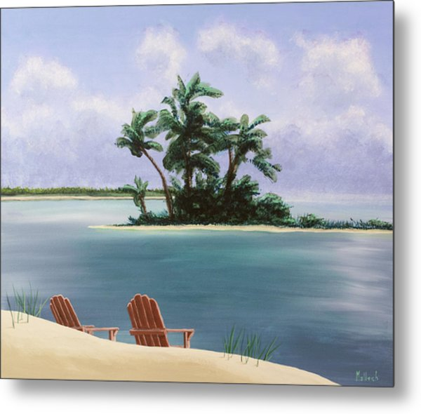 Let's Swim Out To The Island Metal Print