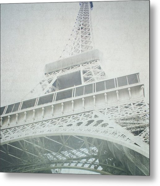 Letters From The Eiffel - Paris Metal Print