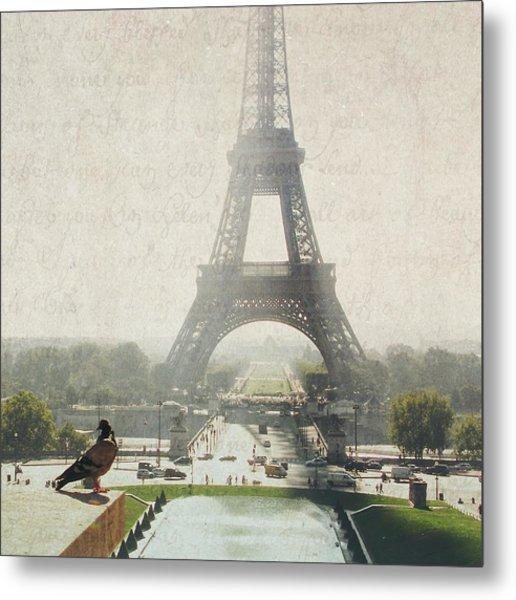 Letters From Trocadero - Paris Metal Print