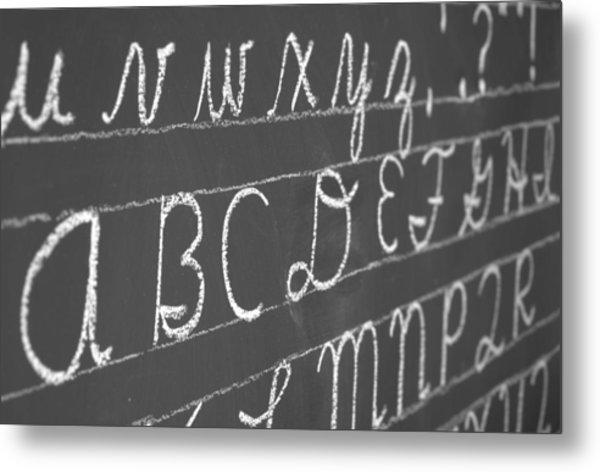 Letters On A Chalkboard Metal Print