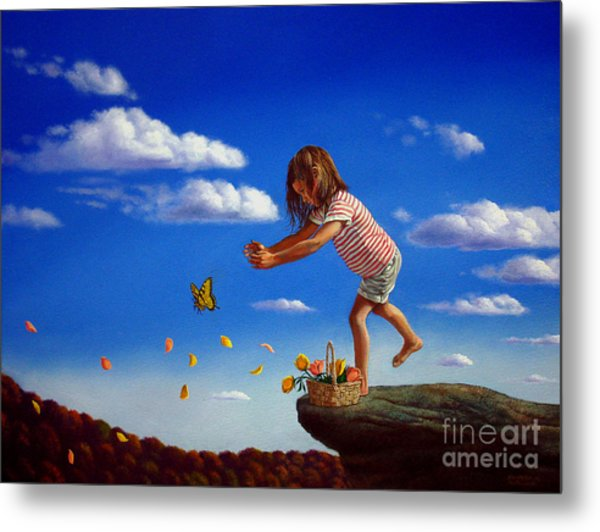 Letting It Go Metal Print