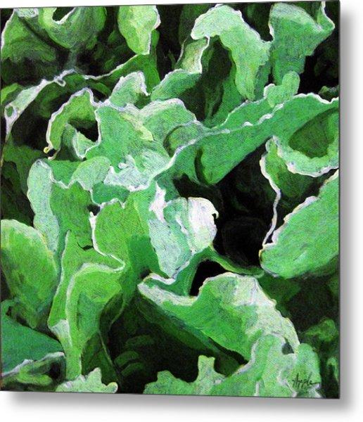 Lettuce Go Green - Food Art Metal Print by Linda Apple