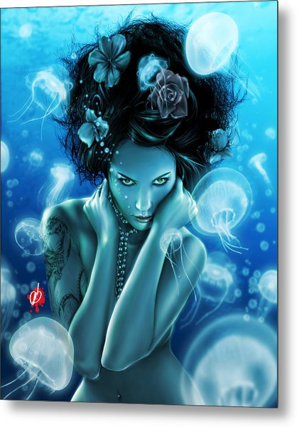 Metal Print featuring the painting Leviathan by Pete Tapang