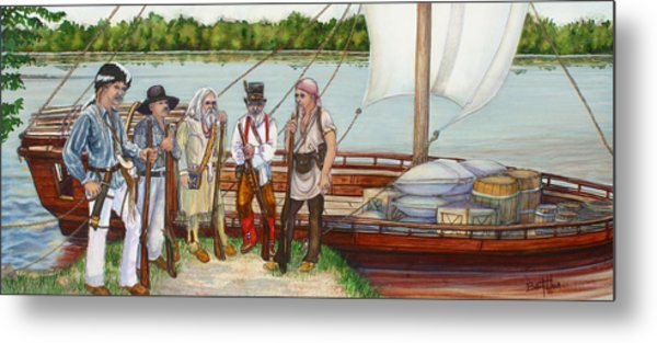 Lewis And Clark Metal Print by Beth Gramith