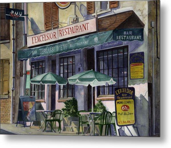L'excelsior Cafe Metal Print by Terri  Meyer