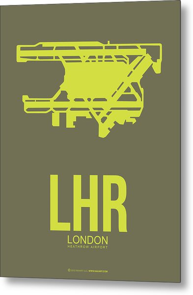 Lhr London Airport Poster 3 Metal Print