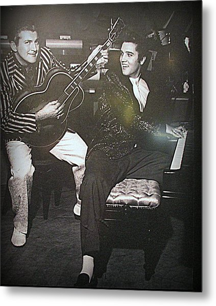Liberace And Elvis Metal Print