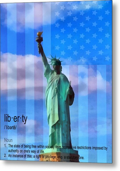 Liberty Defined Metal Print