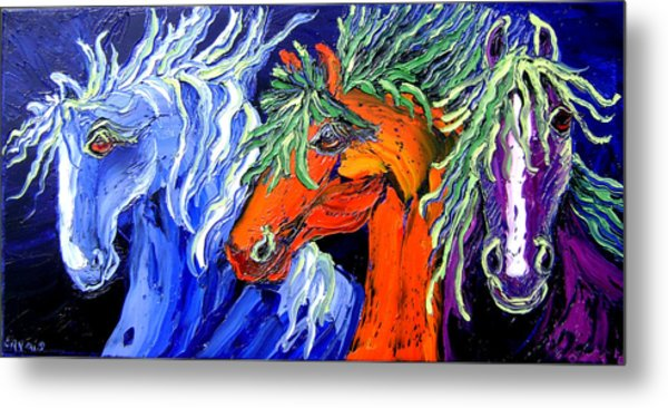 Liberty Horse Metal Print by Isabelle Gervais