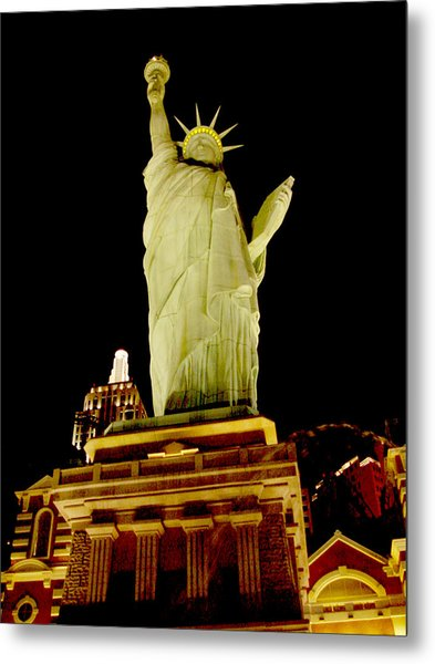Liberty In Las Vegas Metal Print