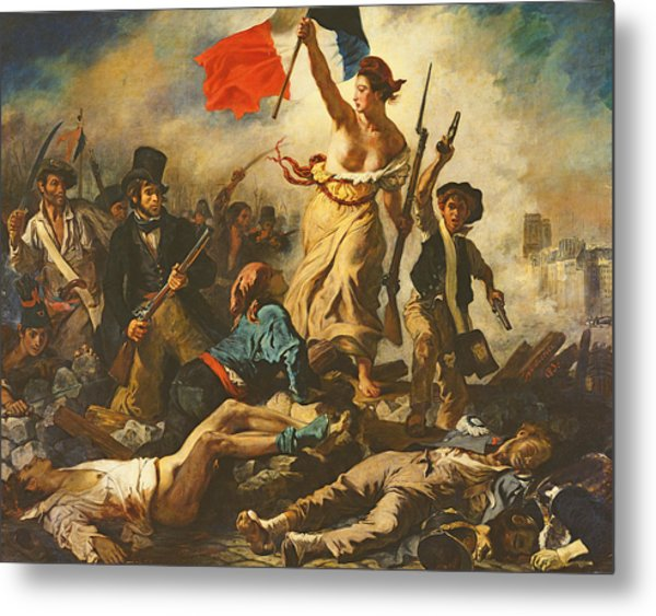 Liberty Leading The People, 28 July 1830 Metal Print