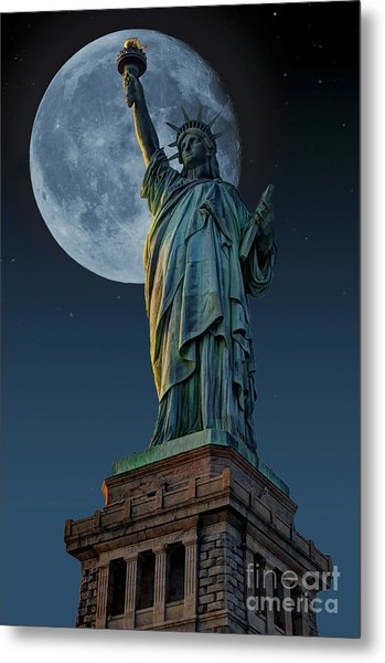 Liberty Moon Metal Print