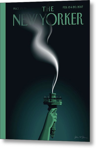 Liberty's Flameout Metal Print