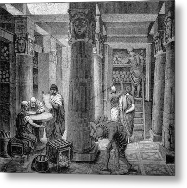 Library Of Alexandria Metal Print