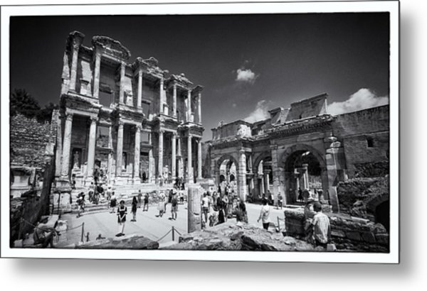 Library Of Celsus - Ephesus Metal Print