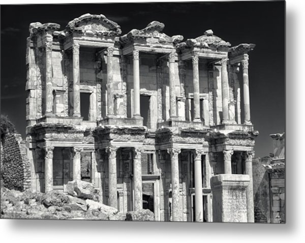Library Of Celsus Ruins At Ephesus Metal Print