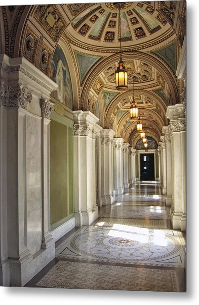Library Of Congress Hallway Washington Dc Metal Print