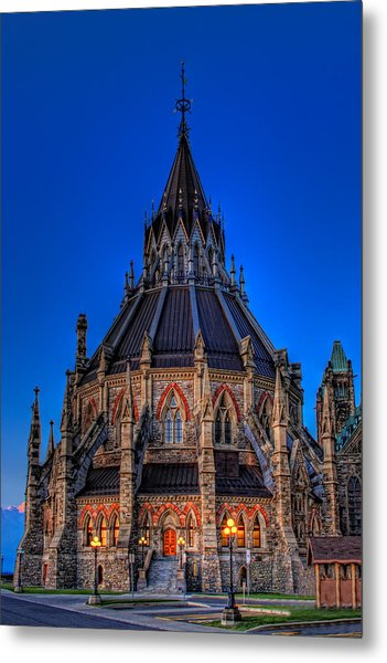 Library Of Parliament Metal Print