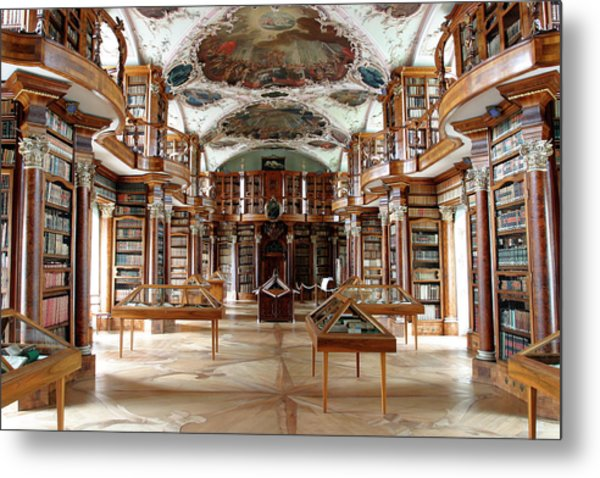 Library Of St Gall's Abbey Metal Print by Michael Szoenyi/science Photo Library