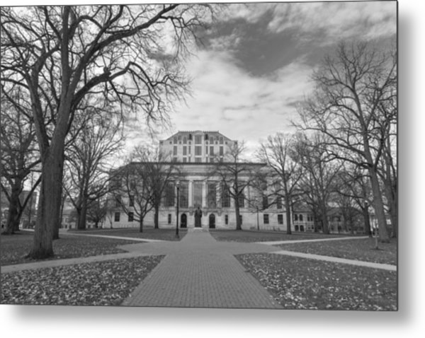 Library Ohio State University Black And White  Metal Print