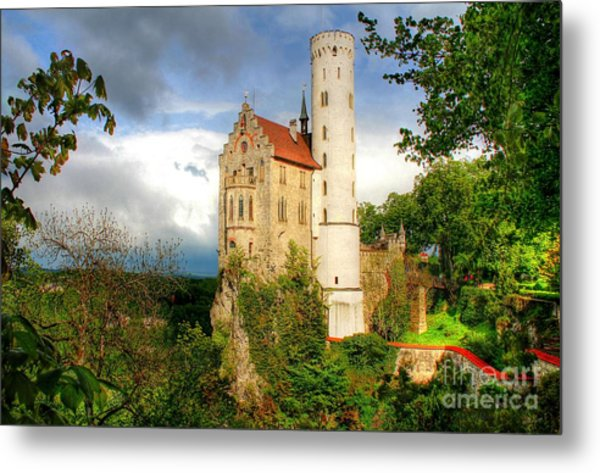 Lichtenstein Castle Swabian Alb Germany Metal Print