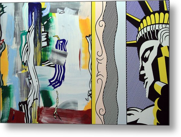 Lichtenstein's Painting With Statue Of Liberty Metal Print