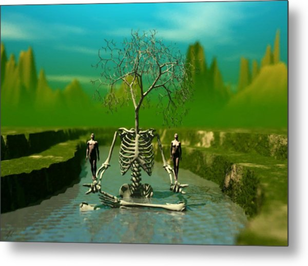 Life Death And The River Of Time Metal Print