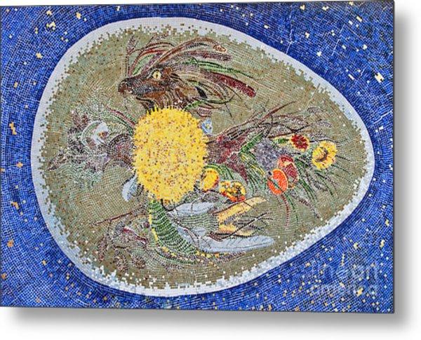 Life Inception Mosaic Metal Print by Mae Wertz