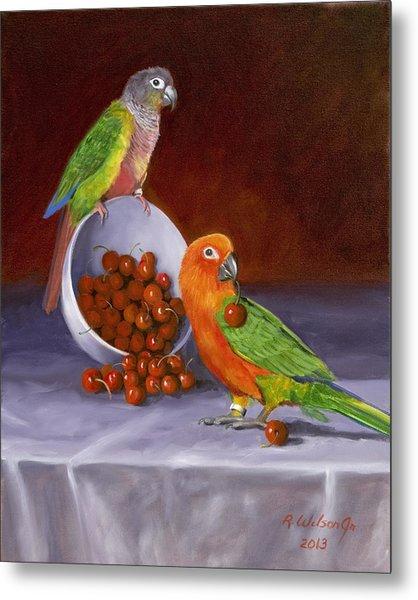 Life Is A Bowl Of Cherries Metal Print