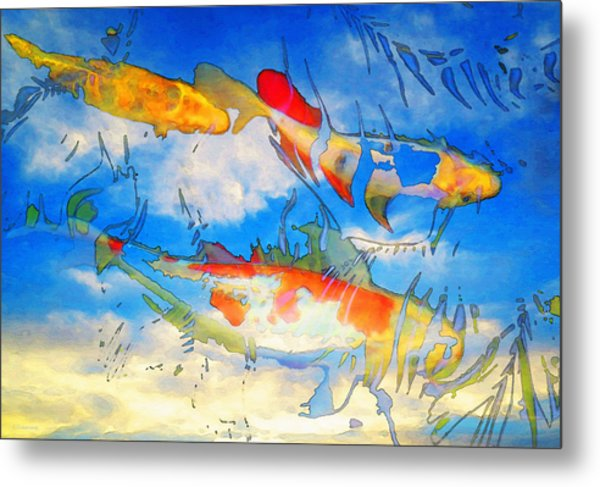 Life Is But A Dream - Koi Fish Art Metal Print