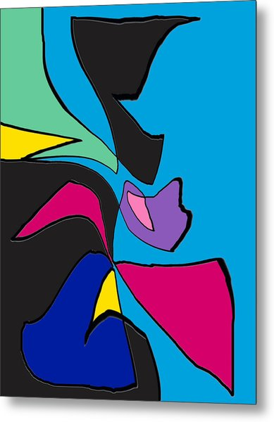 Original Abstract Art Painting Life Is Good By Rjfxx.  Metal Print