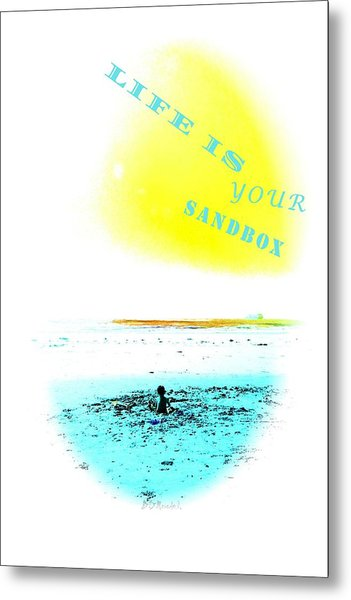 Life Is Your Sandbox Metal Print by Brian D Meredith