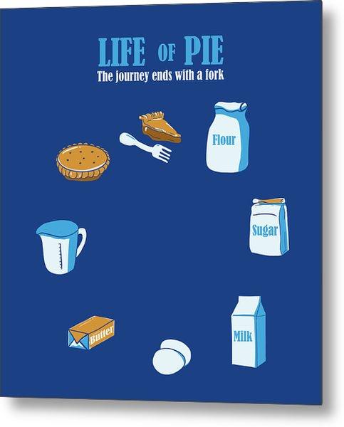 Life Of Pie Metal Print