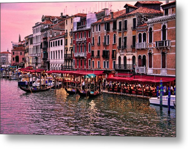 Life On The Grand Canal Metal Print