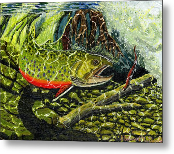 Life Under The Brook Metal Print