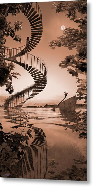 Life Without Stairs Metal Print