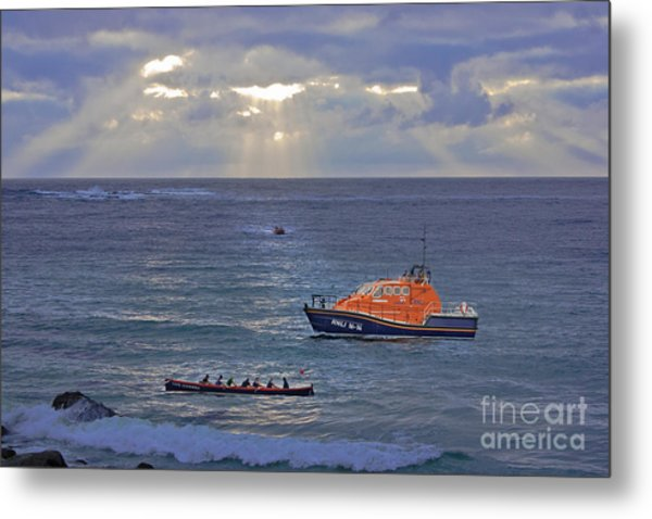Lifeboats And A Gig Metal Print