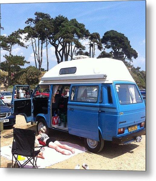 Life's A Beach #camper #vw #vwcamper Metal Print
