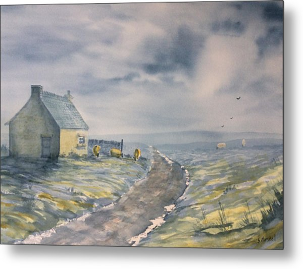 Lifting Mist At Trough House In Glaisdale Metal Print