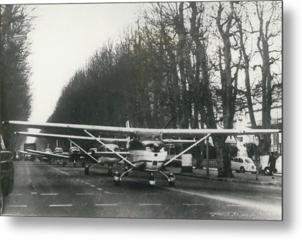Light Aircraft In March Past Metal Print by Retro Images Archive