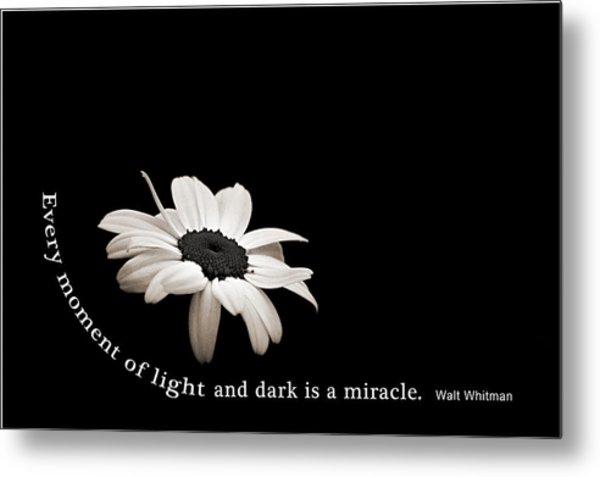 Light And Dark Inspirational Metal Print