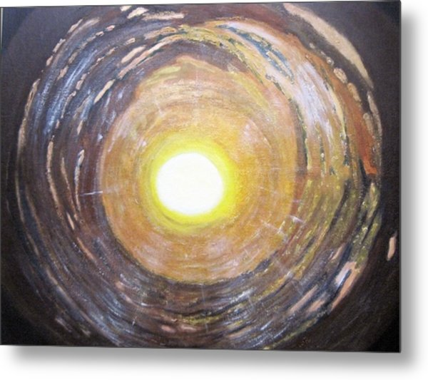 Light At The End Of The Tunnel Metal Print by Waheeda Ramnath