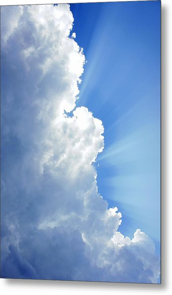 Light Behind The Clouds Metal Print by Thomas Fouch