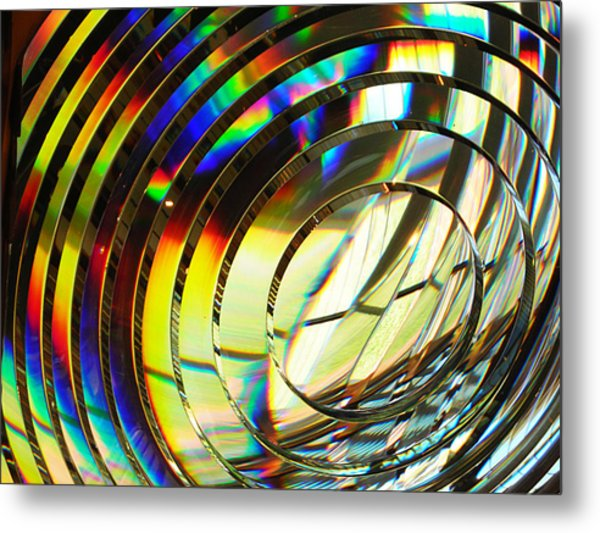 Light Color 1 Prism Rainbow Glass Abstract By Jan Marvin Studios Metal Print