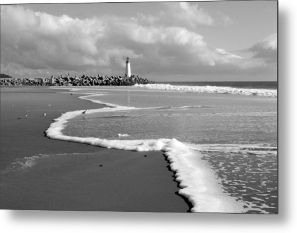 Santa Cruz - Light House Metal Print