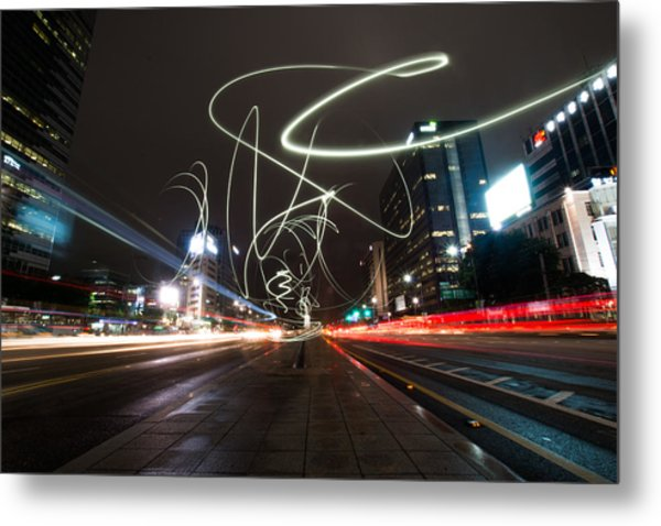 Light In Seoul Metal Print by Yoo Seok Lee