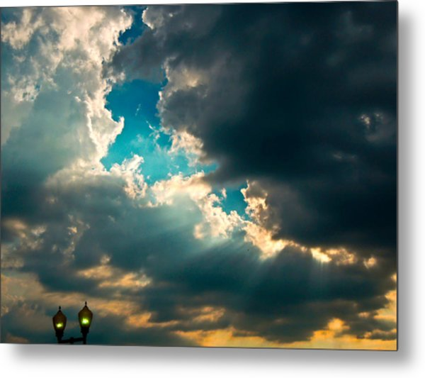 Light In The Storm Metal Print