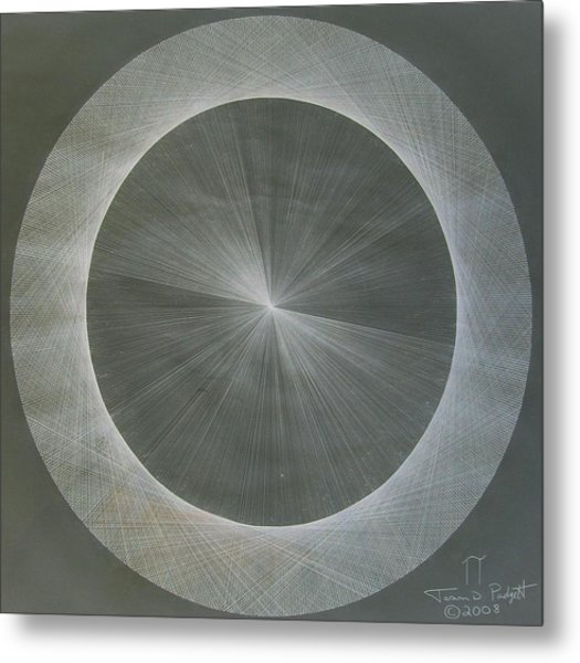 Light Is Pi  The Shape Of Pi Metal Print
