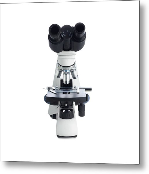Light Microscope Metal Print by Science Photo Library
